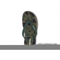 CONVERSE Camo Green Chuck Taylor All Star Flip Flops Slippers New Release