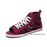 CONVERSE Open Toe Elastic Band Gore Wine Red All Star Roman Sandals Discount