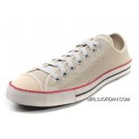 Beige CONVERSE All Star Summer Collection Chuckout Mesh Style Tops Casual Shoes Lastest
