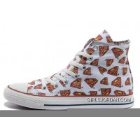 White CONVERSE All Star Superman LOGO Printed Canvas New Release 238138