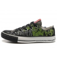 Hulk Shoes CONVERSE Black Green The Avengers Chucks Taylor Tops Sneakers Authentic