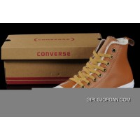 Maroon Soft Nap Tawny CONVERSE Winter All Star Shearling Leather Shoes For Sale