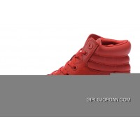 All Star Red High CONVERSE Embroidery Leather Padded Collar Winter For Sale