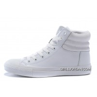 Full White CONVERSE Embroidery Leather Padded Collar Winter CTAS Shoes Copuon Code