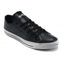 Black Leather CONVERSE By John Varvatos Double Zipper Oxford Winter Chuck Taylor All Star Tops Sneakers Free Shipping