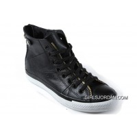 Black Leather CONVERSE Double Zipper John Varvatos Oxford Winter Chuck Taylor All Star High Tops Sneakers For Sale