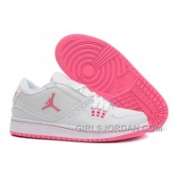 Girls Air Jordan 1 Low GS White Pink For Sale Top Deals