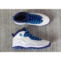 "Super Deals 2017 Girls Air Jordan 10 ""Charlotte Hornets"" For Sale"