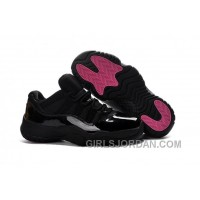 2017 Air Jordan 11 Low Black Pink Lovers Shoes For Sale Authentic