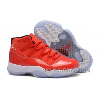 "Girls Air Jordan 11 Carmelo Anthony ""Red"" PE For Sale Authentic"