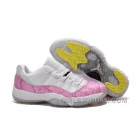 Girls Air Jordan 11 Low White Pink Snakeskin For Sale Authentic