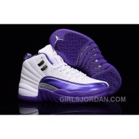 "2017 Girls Air Jordan 12 ""Kings"" Purple White For Sale Lastest"
