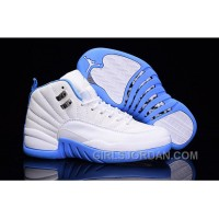 "2017 Girls Air Jordan 12 ""University Blue"" For Sale Free Shipping"