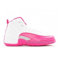 "2017 Girls Air Jordan 12 ""Vivid Pink"" For Sale Lastest"