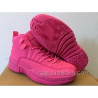 Girls Air Jordan 12 All Pink Shoes For Sale Cheap To Buy