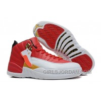 Girls Air Jordan 12 Cherry Red White For Sale Discount