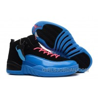 "Girls Air Jordan 12 ""Gamma Blue"" For Sale Discount"