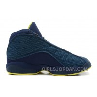 Air Jordan 13 Squadron Blue/Electric Yellow-Black For Sale