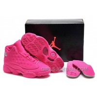 Girls Air Jordan 13 All-Pink Shoes For Sale Lastest