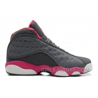 Girls Air Jordan 13 Cool Grey/Fusion Pink-White For Sale Discount