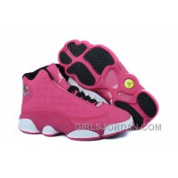 Girls Air Jordan 13 Fusion Pink/Black-White For Sale Lastest