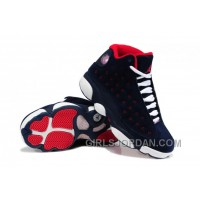 Girls Air Jordan 13 Suede Dark Blue/Red-White For Sale Cheap To Buy