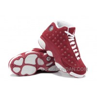 Girls Air Jordan 13 Suede Red White For Sale Christmas Deals