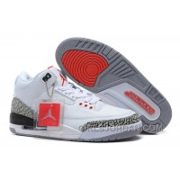 Air Jordan 3 '88 White/Fire Red-Cement Grey-Black For Sale Discount