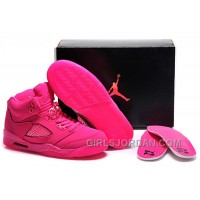 2017 Girls Air Jordan 5 All-Pink Shoes For Sale Discount