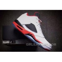 "2017 Girls Air Jordan 5 Low ""Fire Red"" For Sale Christmas Deals"