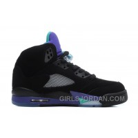 Air Jordan 5 Black/New Emerald-Grape Ice For Sale Authentic