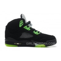 "Air Jordan 5 ""Quai 54″ Black/Radiant Green For Sale Lastest"