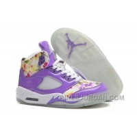 Girls Air Jordan 5 Purple Cherry Blossom For Sale Cheap To Buy
