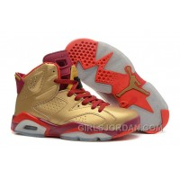 Air Jordan 6 Metal Gold/Deep Red-Varsity Red For Sale Online