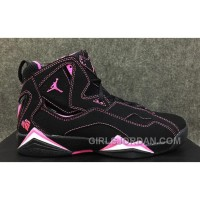 2017 Girls Air Jordan 7 Improved Dark Black Pink For Sale Cheap To Buy