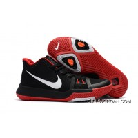 Discount Girls Nike Kyrie 3 Black Red White