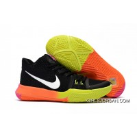 Girls Nike Kyrie 3 Black Colorful Volt Orange Pink Lastest