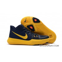 "Girls Nike Kyrie 3 ""Cavs"" Deep Blue Yellow Online"
