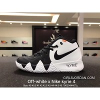 Best Nike Kyrie Off-White 4X18 Spring Kyrie Ep Owen Creative To Be Customized Men Basketball Sports Shoes Combat Weapon Light Combat Coding Real Air Jordan 16 91 100