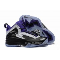 Mens Jordan Air Spike 40 Forty PE Black Purple White Super Deals