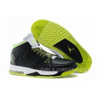 Mens Jordan Flight Origin Black/Venom Green/Volt Ice/White Authentic