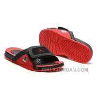 2017 Mens Jordan Hydro 13 Slide Sandals Black Red Christmas Deals