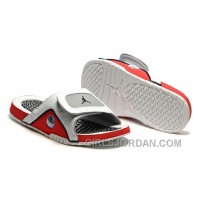 2017 Mens Jordan Hydro 13 Slide Sandals White/Black/True Red/Cement Grey Lastest