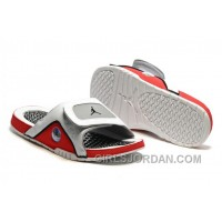 2017 Mens Jordan Hydro 13 Slide Sandals White/Black/True Red/Cement Grey Top Deals