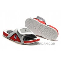 2017 Mens Jordan Hydro 13 Slide Sandals White/Black/True Red/Cement Grey Discount