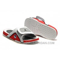 2017 Mens Jordan Hydro 13 Slide Sandals White/Black/True Red/Cement Grey Authentic