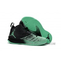 Mens Jordan Super.Fly 5 Black/Green Glow For Sale Authentic