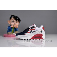 073 MAX 90 Nike Kids Air Max 90 American Flag White Blue Red Best