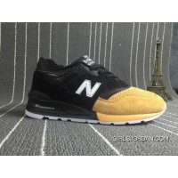 New Balance 997 Men Black Yellow Free Shipping