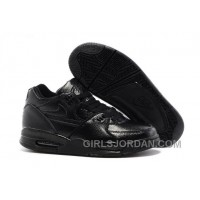Nike Air Flight '89 All Black Leather Mens Basketball Shoes Cheap To Buy